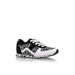 Miss KG - Blk/white 'Lioni' flat lace up trainers