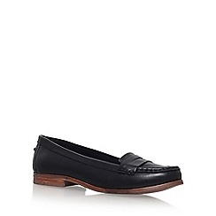 Miss KG - Black 'Mallori' Flat Slip On Loafers