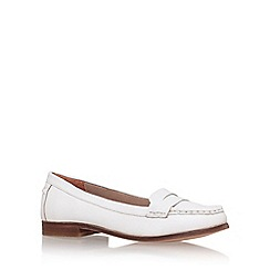 Miss KG - White 'mallori' flat slip on loafer