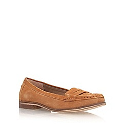 Miss KG - Tan 'Mallori' flat slip on loafer