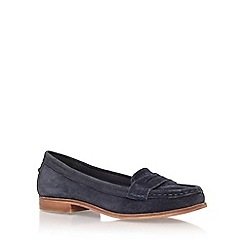 Miss KG - Blue 'mallori' flat slip on loafer
