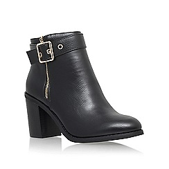 Miss KG - Black 'Jannelle' mid block heel ankle boot