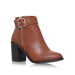 Miss KG - Tan 'Jannelle' mid block heel ankle boot