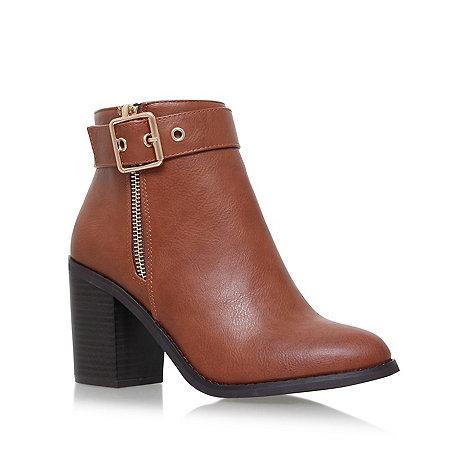 Miss KG - Tan +Jannelle+ mid block heel ankle boot
