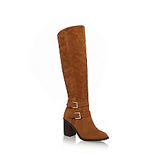 Miss KG - Tan 'Harriet' mid block heel knee high boot