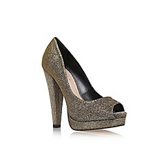 Carvela - Bronze 'Kitty' high heel platform peep toe court shoe