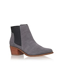 Miss KG - Grey 'Spider' mid heel ankle boot