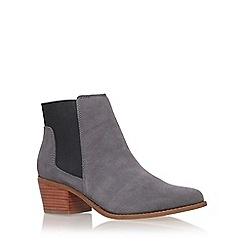 Miss KG - Grey 'Spider' mid heel ankle boot