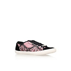 Lipsy - Pink comb 'Mellow' flat lace up printed trainer