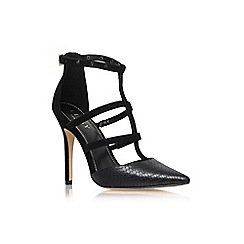 Lipsy - Black/comb 'Cora' high heel strappy court shoe