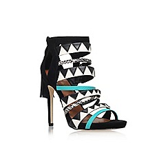 Miss KG - Blk/other 'Farrah' high heel multi strap sandal