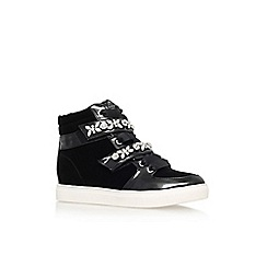 Lipsy - Black 'Lariena' flat embellished hi top trainer