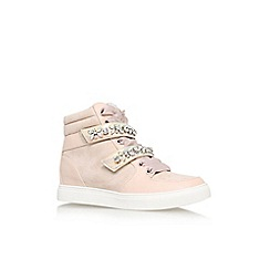 Lipsy - Nude 'Lariena' flat embellished hi top trainer