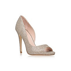 Lipsy - Gold 'Bethan' high heel peep toe court shoe
