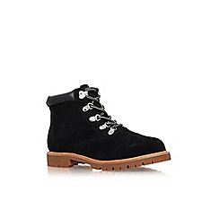 Miss KG - Black 'Soda' flat lace up ankle boot