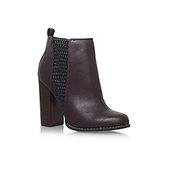 Miss KG - Wine 'Scorpio' high block heel ankle boot