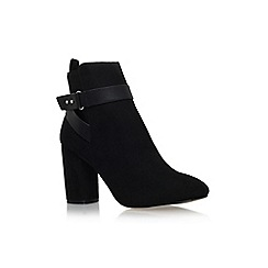 Miss KG - Black 'Sketch' high block heel ankle boot