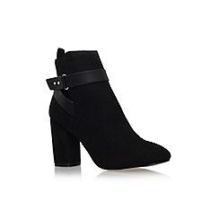 Miss KG - Black 'Sketch' high block heel ankle boot