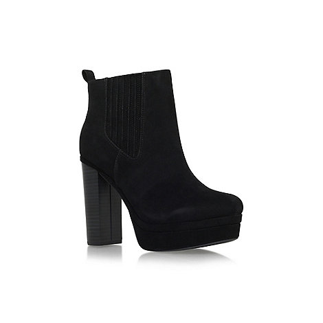 Miss KG - Black +Saffron+ high block heel platform ankle boot
