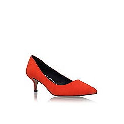 Miss KG - Orange 'Carley' mid heel court shoe