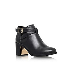 Carvela - Black 'Titan' mid block heel ankle boot