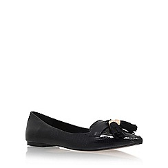 Carvela - Black 'Lot' flat slip on pointed toe court shoe