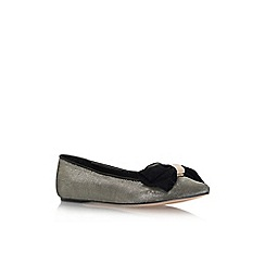Carvela - Gold 'Lin' flat slip on pointed toe court shoe