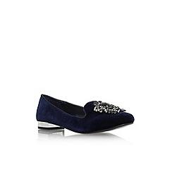 Carvela - Mid blue 'Lady' flat slip on pointed toe court shoe