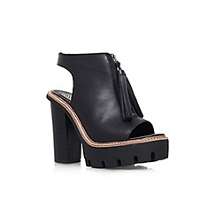 KG Kurt Geiger - Black 'Solace' high heel platform lace up shoe boot