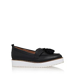 KG Kurt Geiger - Black 'Launch' flat platform slip on loafer