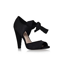 Carvela - Black 'capri' high heel ribbon tie detail court shoe