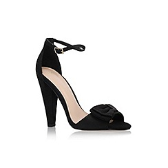 Carvela - Black 'Cady' high heel sandal with ankle strap