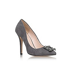 Carvela - Grey 'Lotty' high heel embellished court shoe