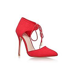 Carvela - Red 'Caramel' high heel lace up court shoe