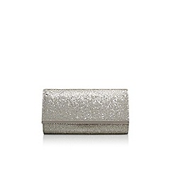 Carvela - Silver 'Dee' clutch bag