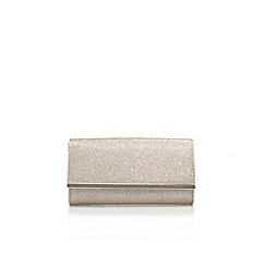 Carvela - Silver 'dee' clutch bag with shoulder strap