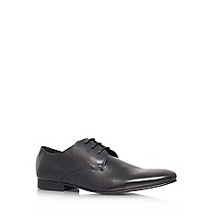 KG Kurt Geiger - Black 'Travis' flat leather formal lace ups