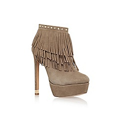 KG Kurt Geiger - Brown 'Scala' high heel ankle boot