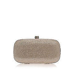 Carvela - Silver 'Darling' clutch bag with shoulder chain