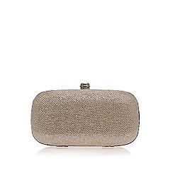 Carvela - Silver 'Darling' clutch bag with shoulder chain