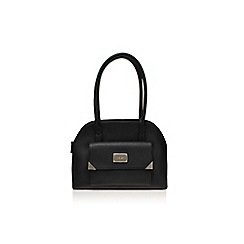 Nine West - Black 'Orlando dome satchel md' large bowling bag