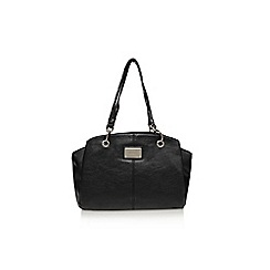 Nine West - Black 'Ria satchel md' large handbag with handles