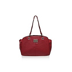 Nine West - Red 'Ria satchel md' large handbag with handles