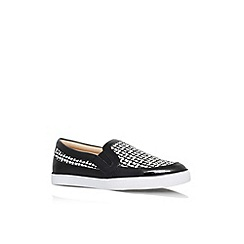 Nine West - Black/ white 'Brodie3' flat slip on casual trainer
