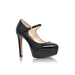 Nine West - Black 'Dinah3' high heel platform court shoes