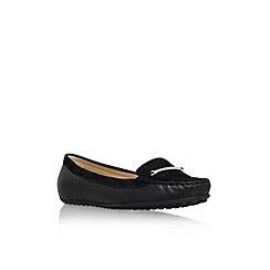 Nine West - Black 'Hottoddy' flat slip on loafer