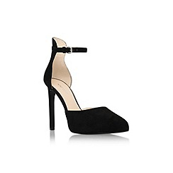 Nine West - Black 'Ladyfinger' high heel ankle strap court shoe