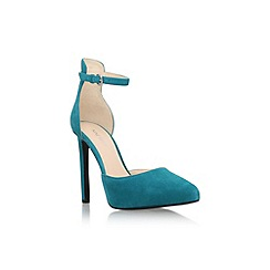 Nine West - Teal 'Ladyfinger' high heel ankle strap court shoe