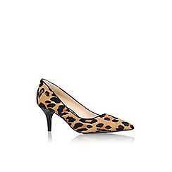 Nine West - Brown 'Margot5' mid heel printed court shoes