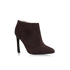 Nine West - Dark brown 'Sheelah' high heel ankle shoe boot